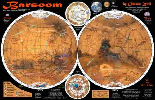 Barsoom Map