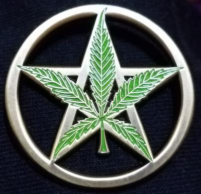 Greenleaf Pentacle Pin